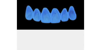 Cod.A1Lingual : 10x  wax lingual bridges,  LARGE, Tapering ovoid, TOOTH 13-23, compatible with Cod.C1Facing,TOOTH 13-23 for long-term provisionals preparation