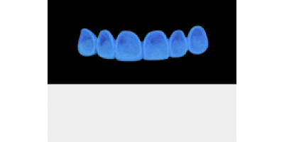 Cod.A3Lingual : 10x  wax lingual bridges,  MEDIUM, Square tapering, TOOTH 13-23, compatible with Cod.C3Facing,TOOTH 13-23, for long-term provisionals preparation