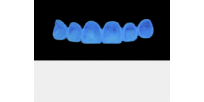 Cod.A6Lingual : 10x  wax lingual surfaces-bridges,  MEDIUM, Square ovoid, TOOTH 13-23, compatible with Cod.C6Facing,TOOTH 13-23, for long-term provisionals preparation