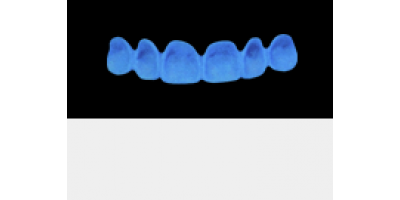 Cod.A7Lingual : 10x  wax lingual bridges,  SMALL, Square ovoid, TOOTH 13-23, compatible with Cod.C7Facing,TOOTH 13-23, for long-term provisionals preparation