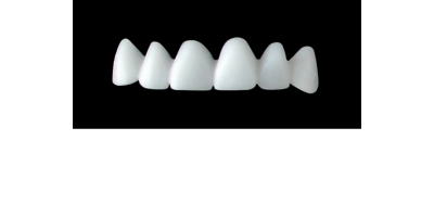 Cod.E3UPPER ANTERIOR : 10x  wax facings-bridges (hollow), MEDIUM, Square tapering, (13-23), compatible with solid (not  hollow) wax bridges Cod.S3UPPER ANTERIOR, (13-23)