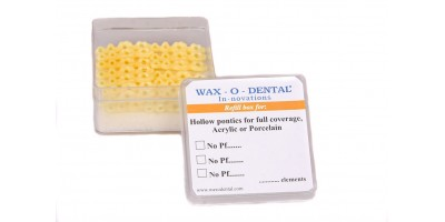 Posterior hollow pontics-full coverage, acrylic or porcelain (23)