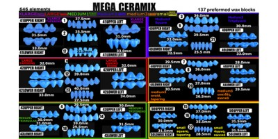 WAX-O-DENTAL  MEGA CERAMIX Kit-Art.no.400-00